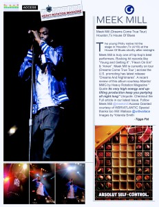 18meek mill article in Heavy Rotation Magazine