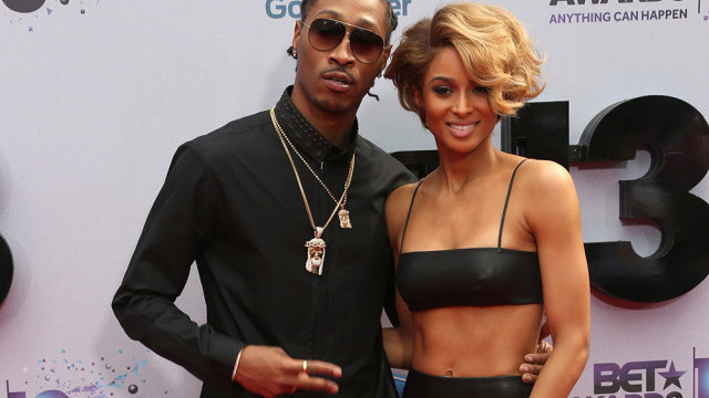 LOS ANGELES, CA - JUNE 30:  Rapper Future (L) and singer Ciara attend the 2013 BET Awards at Nokia Theatre L.A. Live on June 30, 2013 in Los Angeles, California.  (Photo by Frederick M. Brown/Getty Images for BET)