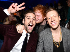 Ryan Lewis, Ed Sheeran and Macklemore
