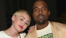 """WEST HOLLYWOOD, CA - JANUARY 22:  Recording artists Miley Cyrus (L) and Kanye West attend The DAILY FRONT ROW """"Fashion Los Angeles Awards"""" Show at Sunset Tower on January 22, 2015 in West Hollywood, California.  (Photo by Charley Gallay/Getty Images for the DAILY FRONT ROW)"""