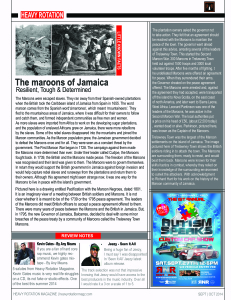 p.11The Maroons Of Jamaica & Reviews